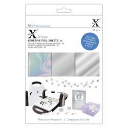 XCut Adhesive Foil Sheets, A5, hopea