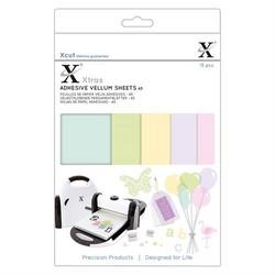 XCut Adhesive Vellum Sheets, A5, värilliset