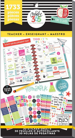 Mambi Happy Planner Value Pack -tarrapakkaus Teacher