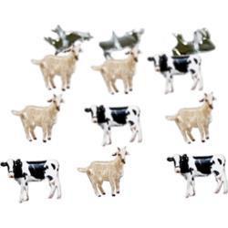 Haaraniitit Lehmät ja Vuohet. 12 kpl