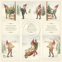 Pion Design Images from the Past skräppipaperi Greetings from the North Pole