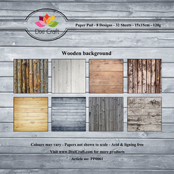 Dixi Craft Wooden Background -paperipakkaus