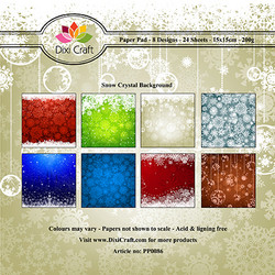Dixi Craft Snow Crystal Background -paperipakkaus