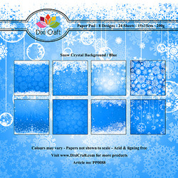Dixi Craft Snow Crystal Background - Blue -paperipakkaus
