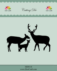 Dixi Craft stanssisetti Deer Family