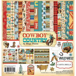 Carta Bella Cowboy Country -paperipakkaus, 12 x 12