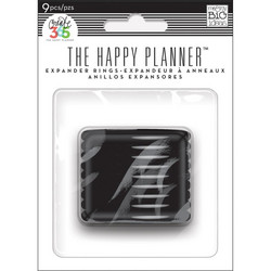 Mambi Happy Planner renkaat. Black. 1.75