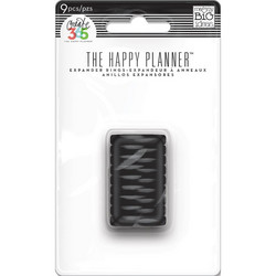Mambi Happy Planner renkaat. Black. 0.75