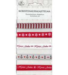 Koristenauhalajitelma, joulu, punainen