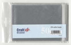 CraftUK pussit korteille, koko C6, 50 kpl