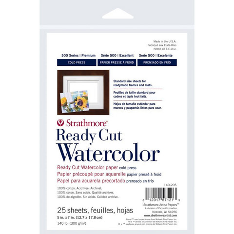 Strathmore Watercolor -paperipakkaus, 5