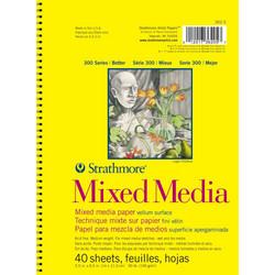 Strathmore Mixed Media Vellum Spiral -lehtiö, 5.5