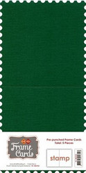 Frame Card -korttipohjat stamp, vihreä, 5 kpl
