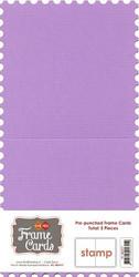 Frame Card -korttipohjat stamp, violetti, 5 kpl