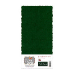 Frame Card -korttipohjat photo frame, vihreä, 5 kpl