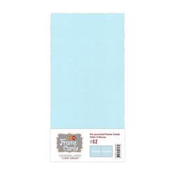 Frame Card -korttipohjat photo frame, vaaleansininen, 5 kpl