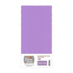 Frame Card -korttipohjat photo frame, violetti, 5 kpl