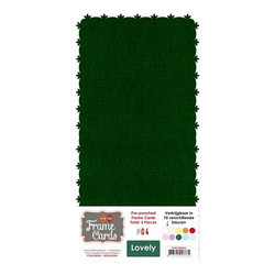 Frame Card -korttipohjat lovely, vihreä, 5 kpl