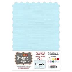 Frame Card -korttipohjat lovely, vaaleansininen, A6, 5 kpl