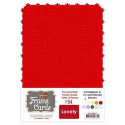 Frame Card -korttipohjat lovely, punainen, A6, 5 kpl