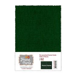 Frame Card -korttipohjat photo frame, vihreä, A6, 5 kpl