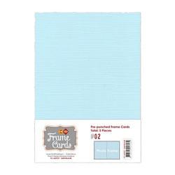 Frame Card -korttipohjat photo frame, vaaleansininen, A6, 5 kpl