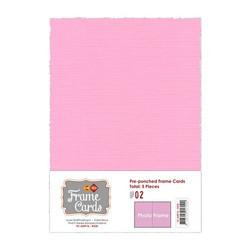 Frame Card -korttipohjat photo frame, vaaleanpunainen, A6, 5 kpl