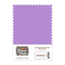 Frame Card -korttipohjat stamp, violetti, A6, 5 kpl