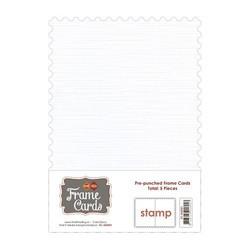 Frame Card -korttipohjat stamp, valkoinen, A6, 5 kpl