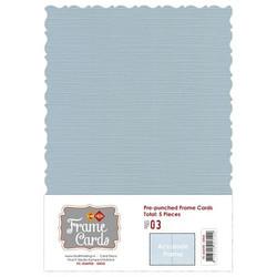 Frame Card -korttipohjat accolade, harmaa, A6, 5 kpl