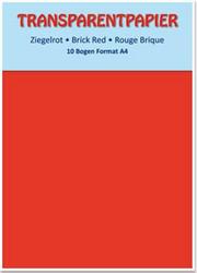 Kuultopaperi (vellum), punainen, A4