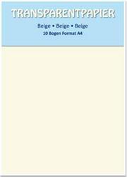 Kuultopaperi (vellum), beige, A4