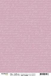 Reprint kartonki Vintage Pink Lyrics