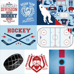 Echo Park Hockey Journaling Cards -paperi