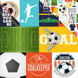 Echo Park Soccer Journaling Cards -paperi