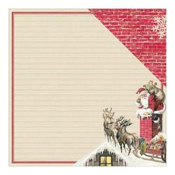 Authentique Classic Christmas skräppipaperi Santa & Reindeer