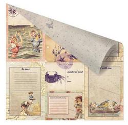 Prima Marketing French Riviera Collection skräppipaperi Un Petit Mot De La Mer