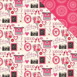 Echo Park skräppipaperi Valentine Icons