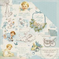 Kaisercraft Peek-A-Boo skräppipaperi Bambino