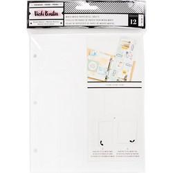 Vicki Boutin Mixed Media Junque Journal - lisäsivut, 12 kpl, valkoiset