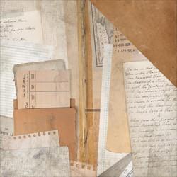 Kaisercraft Documented skräppipaperi Library Ephemera