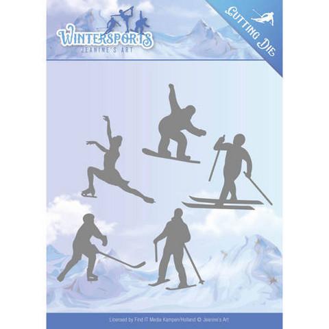 Jeanines Art Wintersports stanssisetti Winter Sporting