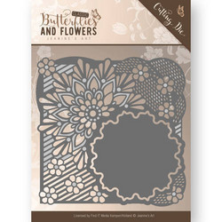 Jeanines Art Butterflies and Flowers stanssi Flower Frame
