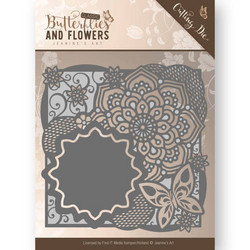 Jeanines Art Butterflies and Flowers stanssi Flower Frame 2