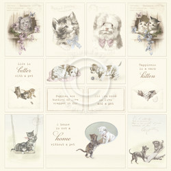 Pion Design Our Furry Friends skräppipaperi Images From The Past