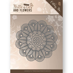 Jeanines Art Butterflies and Flowers stanssi Doily