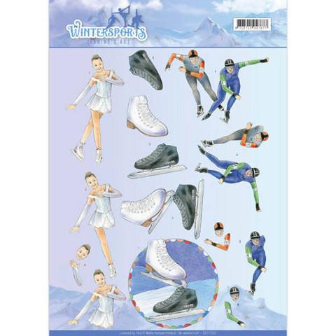 Jeanine's Art 3D-kuvat Ice Skating