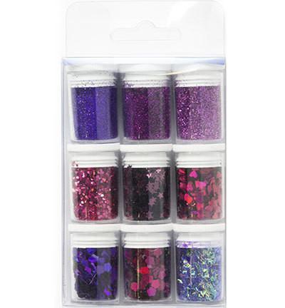 Glitter-setti, violetti