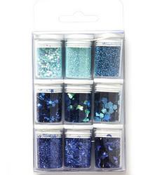 Glitter-setti, sininen