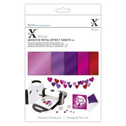 XCut Adhesive Metal Effect Sheets, A5, Pinks